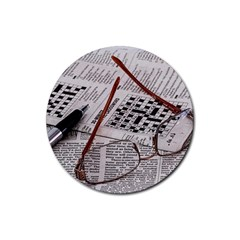 Crossword Genius Drink Coaster (Round)