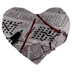 Crossword Genius 19  Premium Heart Shape Cushion