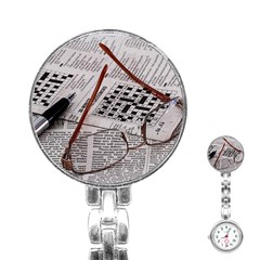Crossword Genius Stainless Steel Nurses Watch