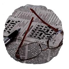 Crossword Genius 18  Premium Flano Round Cushion