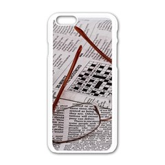 Crossword Genius Apple iPhone 6 White Enamel Case