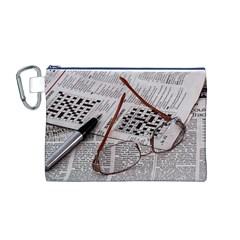 Crossword Genius Canvas Cosmetic Bag (Medium)