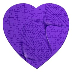 Twisted Purple Pain Signals Jigsaw Puzzle (heart)