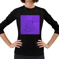 Twisted Purple Pain Signals Women s Long Sleeve T Shirt (dark Colored)