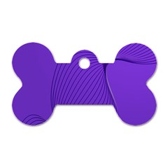 Twisted Purple Pain Signals Dog Tag Bone (One Sided)
