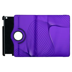 Twisted Purple Pain Signals Apple iPad 3/4 Flip 360 Case