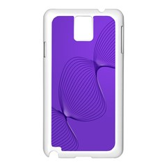 Twisted Purple Pain Signals Samsung Galaxy Note 3 N9005 Case (White)