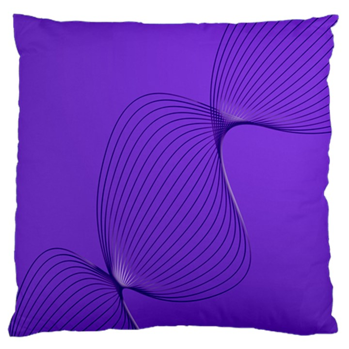 Twisted Purple Pain Signals Standard Flano Cushion Case (One Side)