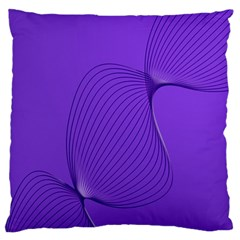 Twisted Purple Pain Signals Standard Flano Cushion Case (Two Sides)