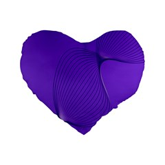 Twisted Purple Pain Signals 16  Premium Flano Heart Shape Cushion