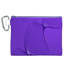Twisted Purple Pain Signals Canvas Cosmetic Bag (XL)