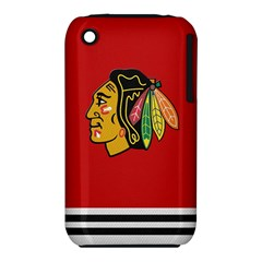 Chicago Blackhawks Jersey Textured Device Case Apple iPhone 3G/3GS Hardshell Case (PC+Silicone)