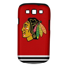 Chicago Blackhawks Jersey Textured Device Case Samsung Galaxy S III Classic Hardshell Case (PC+Silicone)