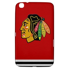 Chicago Blackhawks Jersey Textured Device Case Samsung Galaxy Tab 3 (8 ) T3100 Hardshell Case