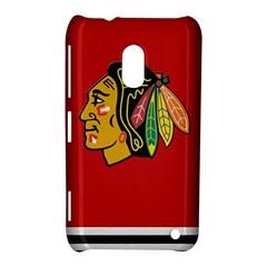 Chicago Blackhawks Jersey Textured Device Case Nokia Lumia 620 Hardshell Case