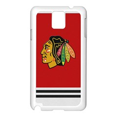 Chicago Blackhawks Jersey Textured Device Case Samsung Galaxy Note 3 N9005 Case (White)