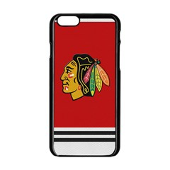 Chicago Blackhawks Jersey Textured Device Case Apple iPhone 6 Black Enamel Case