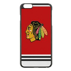 Chicago Blackhawks Jersey Textured Device Case Apple Iphone 6 Plus Black Enamel Case