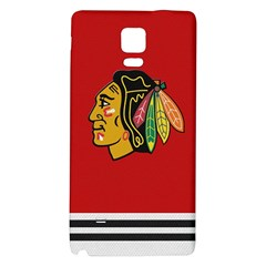 Chicago Blackhawks Jersey Textured Device Case Samsung Note 4 Hardshell Back Case