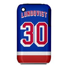 Henrik Lundqvist Jersey Style Device Case Apple iPhone 3G/3GS Hardshell Case (PC+Silicone)