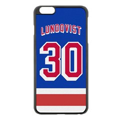 Henrik Lundqvist Jersey Style Device Case Apple iPhone 6 Plus Black Enamel Case