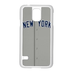 New York Yankees Jersey Case Samsung Galaxy S5 Case (White)