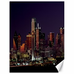 Dallas Skyline At Night Canvas 18  X 24  (unframed)