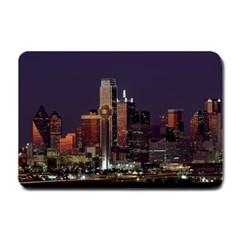 Dallas Skyline At Night Small Door Mat