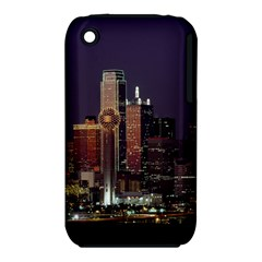 Dallas Skyline At Night Apple Iphone 3g/3gs Hardshell Case (pc+silicone)