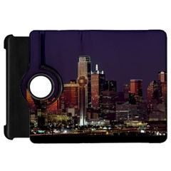 Dallas Skyline At Night Kindle Fire HD Flip 360 Case