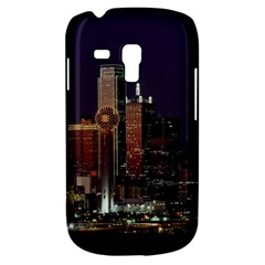 Dallas Skyline At Night Samsung Galaxy S3 Mini I8190 Hardshell Case