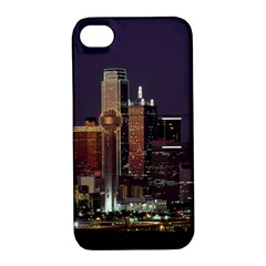 Dallas Skyline At Night Apple Iphone 4/4s Hardshell Case With Stand