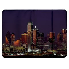 Dallas Skyline At Night Samsung Galaxy Tab 7  P1000 Flip Case