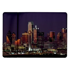 Dallas Skyline At Night Samsung Galaxy Tab 10.1  P7500 Flip Case