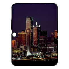 Dallas Skyline At Night Samsung Galaxy Tab 3 (10.1 ) P5200 Hardshell Case