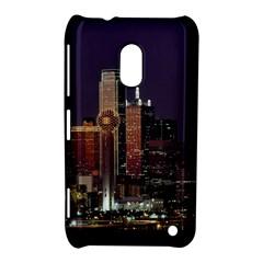 Dallas Skyline At Night Nokia Lumia 620 Hardshell Case