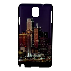 Dallas Skyline At Night Samsung Galaxy Note 3 N9005 Hardshell Case