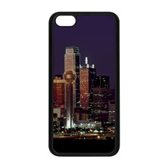 Dallas Skyline At Night Apple iPhone 5C Seamless Case (Black)