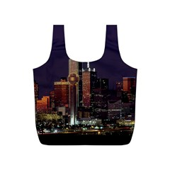 Dallas Skyline At Night Reusable Bag (S)