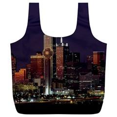 Dallas Skyline At Night Reusable Bag (XL)