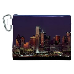 Dallas Skyline At Night Canvas Cosmetic Bag (XXL)