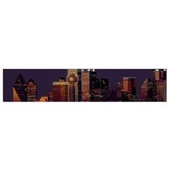 Dallas Skyline At Night Flano Scarf (Small)