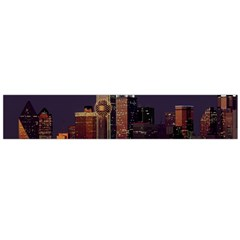 Dallas Skyline At Night Flano Scarf (Large)