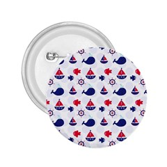 Nautical Sea Pattern 2 25  Button