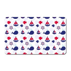 Nautical Sea Pattern Magnet (rectangular)