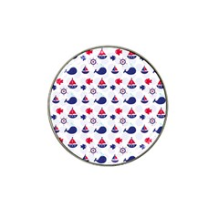 Nautical Sea Pattern Golf Ball Marker (for Hat Clip)