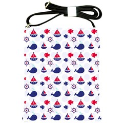 Nautical Sea Pattern Shoulder Sling Bag