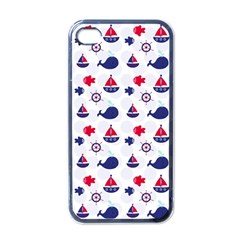 Nautical Sea Pattern Apple Iphone 4 Case (black)