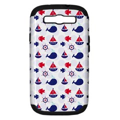 Nautical Sea Pattern Samsung Galaxy S Iii Hardshell Case (pc+silicone)