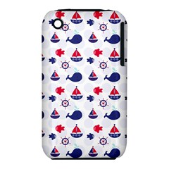 Nautical Sea Pattern Apple iPhone 3G/3GS Hardshell Case (PC+Silicone)